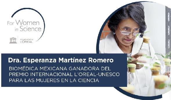"""""""La Dra. Esperanza Martínez ganadora del premio L'Oreal-UNESCO 2020 para mujeres en la ciencia"""""""