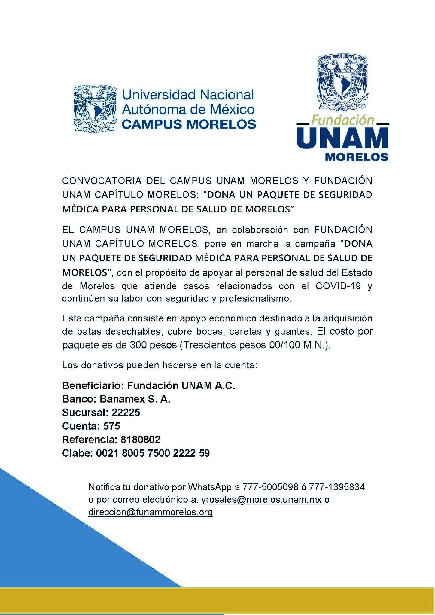 UNAM Morelos y Fundación UNAM Morelos
