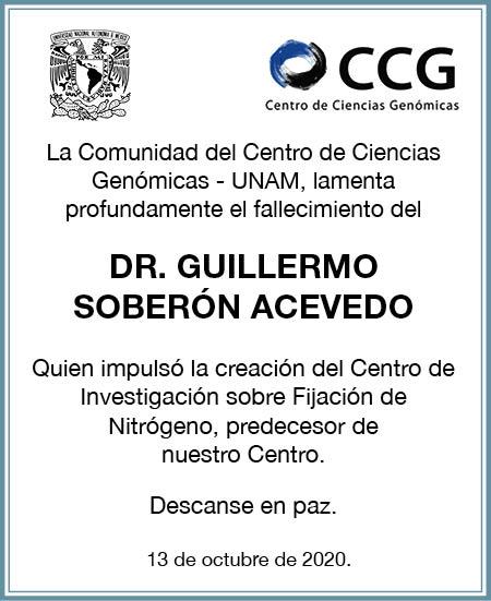 Fallecimiento Guillermo Soberón Acevedo