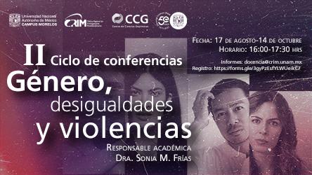 II Ciclo de Conferencias: Género, desigualdades y violencias